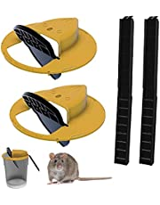 Flip N'Slide Bucket Lid Mouse/Rat Trap丨Mouse Bucket Device,Mouse Traps Humane — Mouse Trap Cage for Indoor Outdoor (2Set)