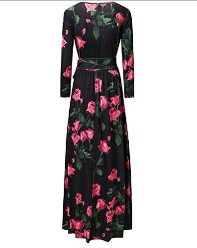 Immagine Sera Girocollo Cinghie Rosa Coolred Vestito Maxi Come Abito Stampate Da donne qCxxSgwPH