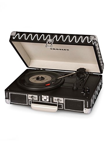 Crosley CR8005A-CB Cruiser Portable 3-Speed Turntable, Chalkboard System Chalkboard