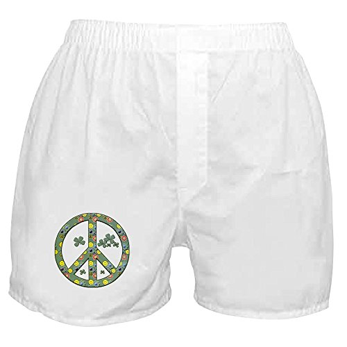 Royal Lion Boxer Short (Shorts) Peace Symbol Sign Irish Shamrocks - XL