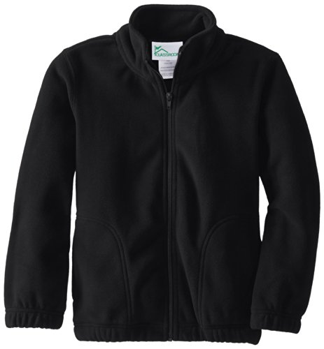 CLASSROOM Youth Unisex Polar Fleece Jacket, Black,