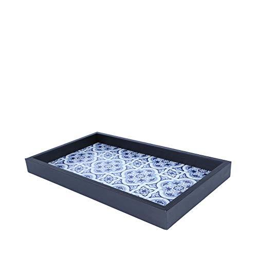 (Woodart Tray/Serving Platter - Portuguese Tile Design (13x8