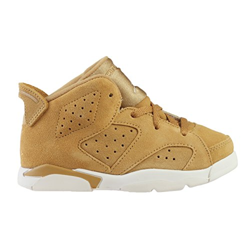 NIKE Toddler Jordan Retro 6 Golden Harvest/Sail Size 4 M US Toddler by NIKE