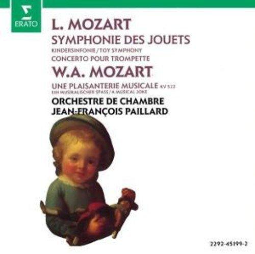 Leopold Mozart: Symphonie Des Jouets/Toy Symphony in C, Concerto in D for Trumpet Horns Strings & Harpsichord; WA Mozart A Musical Joke K522 (Erato)