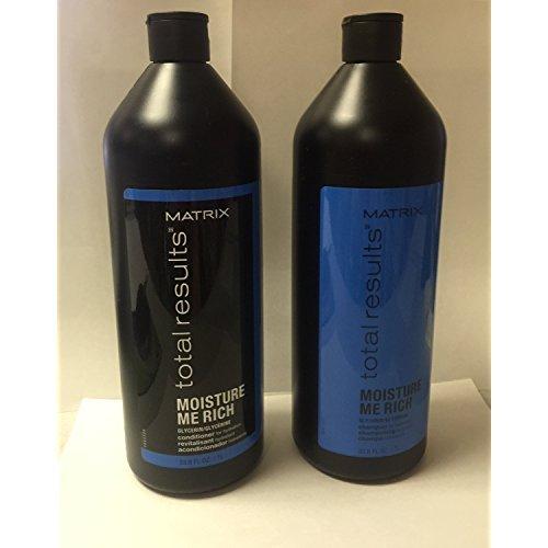 Matrix Total Results Moisture Me Rich Shampoo & Conditioner Duo, 33.8oz Each (Moisture Rich Shampoo)