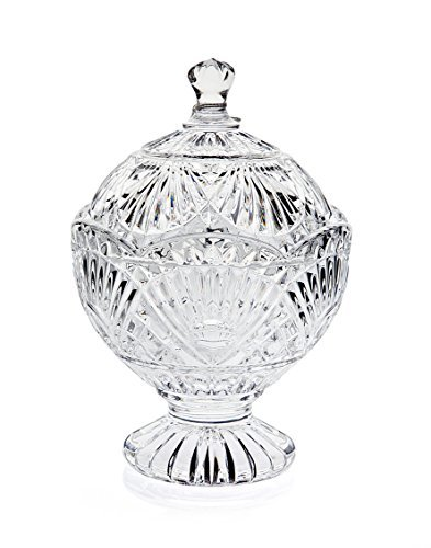 Godinger Round Crystal Freedom Covered Candy Dish