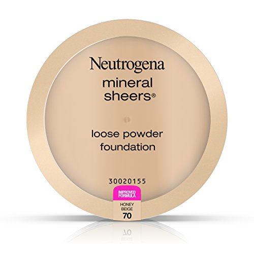 Neutrogena Mineral Sheers Loose Powder Foundation, Honey Beige 70, .19 Oz.