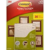 Command Large Picture and Frame Hanging Strips, 17206 (30 Pairs)