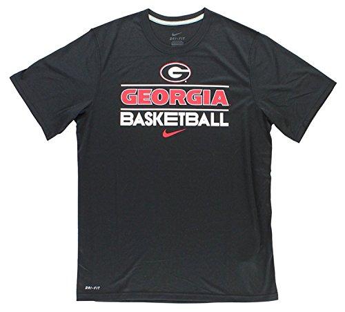 (Nike Georgia Bullodgs NCAA Basketball Dri-FIT Team Issue Practice T-Shirt (XXL, Black))