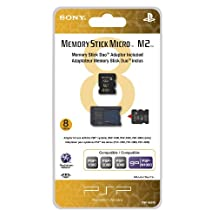 8GB Memory Stick Micro + M2 Duo Adaptor - PlayStation Portable Standard Edition