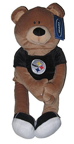 (Pittsburgh Steelers NFL Mascot Bear & Roll Pillow )