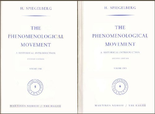 The Phenomenological Movement: A Historical Introduction (Two-Volume Set) (Movement Phenomenological)