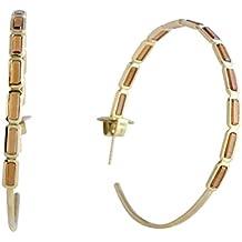 Ippolita Rock Candy 18K Yellow Gold Hessonite Garnet Large Hoop Earrings