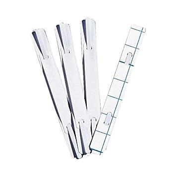 Heftstreifen selbstklebend  Heftstreifen selbstklebend, 15x1,6cm, weiß, 100 Stück: Amazon.de ...
