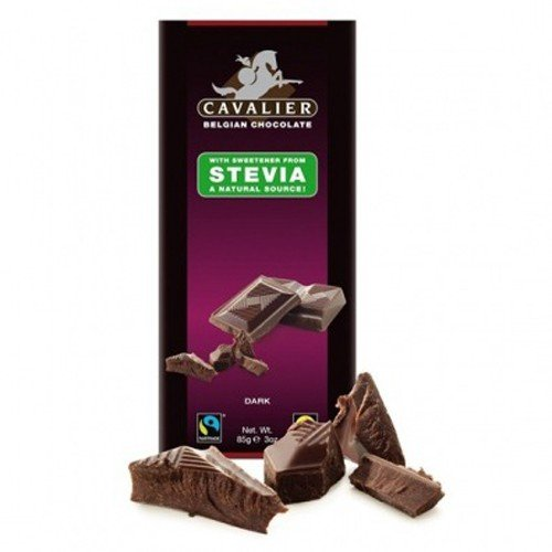 Cavalier - Belgian Dark Choc with Stevia | 85g (Cavalier Chocolate compare prices)