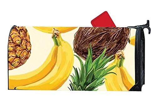 Tollyee Home Tropical Fruit Summer Fall Magnetic Mailbox Cover Magnetic Mailbox Cover 9