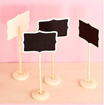 Pack Of 10 Chalkboard Toothpicks Party Supplies