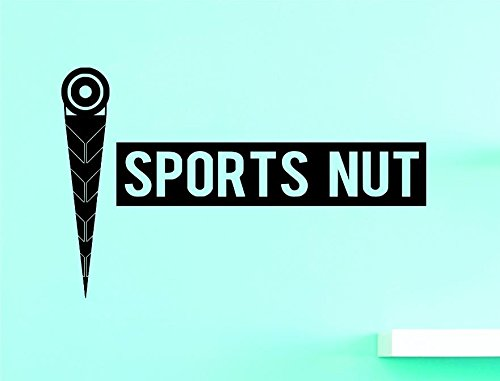 Design with Vinyl US V JER 3577 2 Top Selling Decals Sports Nut Wall Art Size 14 Inches X 28 Inches Color Black 14 x 28