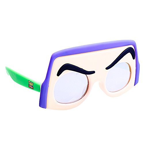 Sun-Staches Costume Sunglasses Lil' Characters Toy Story Buzz Party Favors UV400 ()
