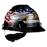 MSA 10079479 V-Gard Hard Hat Front Brim with Ratchet Suspension, Standard, American...