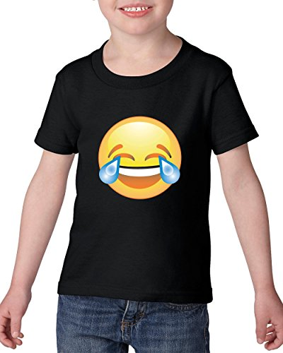 Emoji T-Shirt Emoji Laughing tears Cute Birthday Gift Heavy Cotton Toddler Kids T-Shirt Tee Clothing]()