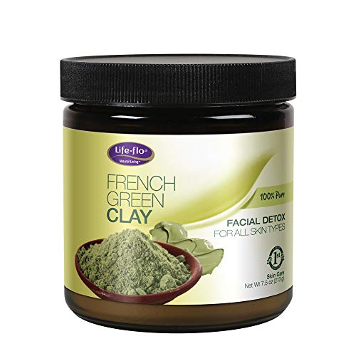 Clay Green Detox - Life-Flo French Green Clay Detox Mask, Unscented, 7.5 ounce