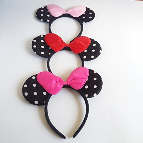 To List Costumes Adult Do (Minnie Mouse Costume Deluxe Fabric Ears HeadbandSet of)