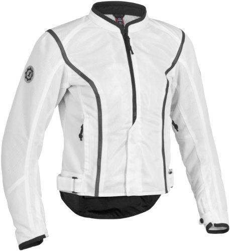 Firstgear Contour Mesh Womens Jacket , Gender: Womens, Primary Color: White, Size: Md, Distinct Name: White, Apparel Material: Textile FTJ.1308.02.W002
