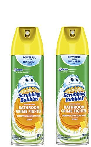 Cleaner Bathroom (Scrubbing Bubbles Bathroom Cleaner Aerosol - Lemon - 20 oz - 2 pk)