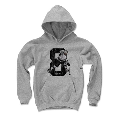 500 LEVEL's Drew Doughty Kids Hoodie Youth Small Gray - Los Angeles Hockey Fan Apparel - Drew Doughty Sketch 8 K