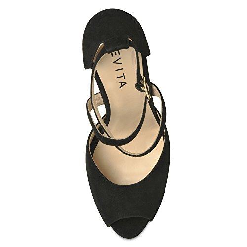 Sandalias para mujer, diseño de ciervo Negro - negro