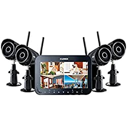 Lorex Wireless Video Surveillance System with 7 inch Monitor and 4 Weather-Resistant Cameras