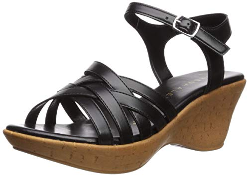 Athena Alexander Women's CASTLEWALK Wedge Sandal, Black, 8 M US