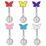 NYKKOLA Nurse Watch Brooch, Silicone with Pin/Clip,Infection Control Design, Health Care Nurse Doctor Paramedic Medical Brooch Fob Watch(6 PCS)