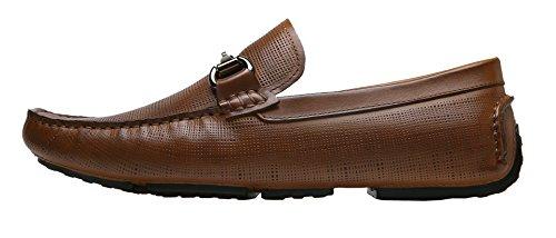 Shenbo Arow Vip Herenlederen Loafers Bruin-2
