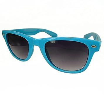 DP Design® Gafas de sol Wayfarer Unisex Azul Lentes negras ...