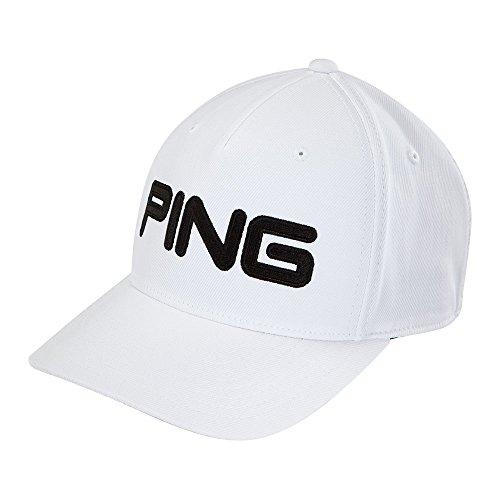 (Ping Men's Tour Structured Men's Hat, White/Black, Large/X-Large )