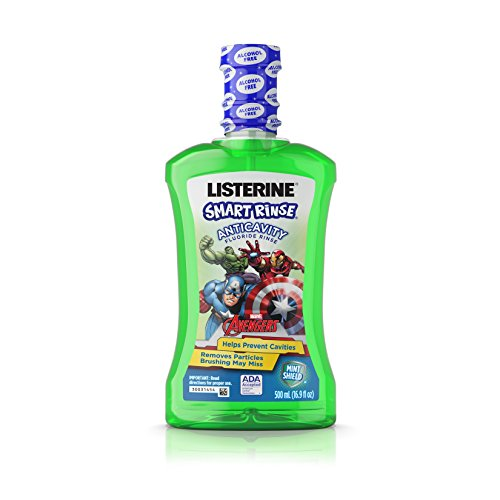 Listerine Smart Rinse, Mint Shield For Good Oral Hygiene, 16.9 Oz (Pack Of 6)