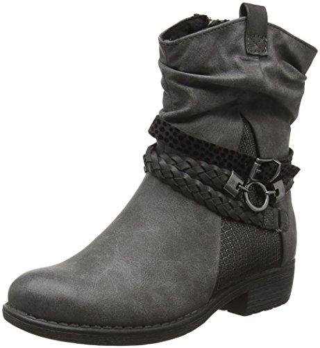 Marco Tozzi Mädchen 46407 Kurzschaft Stiefel Grau (Grey Antic Com 202)