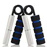 MAXSOINS Hand Grip and Wrist Strengthener – Resistance from 50-350 lb Metal Exerciser for Hand, Forearm, and Fingers,Silver Stainless steel,150LB For Sale