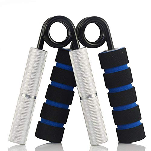 MAXSOINS Hand Grip and Wrist Strengthener - Resistance from 50-350 lb Metal Exerciser for Hand, Forearm, and Fingers,Silver Stainless Steel,100LB ()