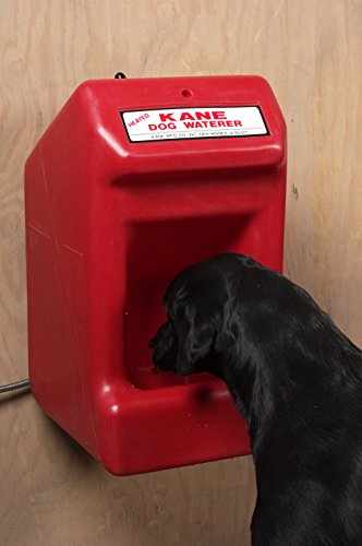 Kane Manufacturing Dog Waterer Holds 5 Gallons of Water, Automatic Thermostat and Heated Dog Water Bowl for Outside Prevents Frozen Water, Easy Access for Pets and Humans with Wall Mount Design