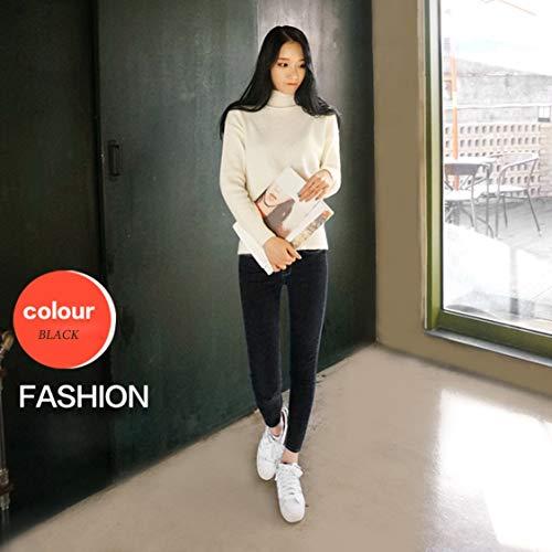 Étudiants Les Extensibles Taille Tous Style Usés Coréen Jeans Haute Minces Longs Pantalons Match Points Neuf Vige Femme Pwk08nO