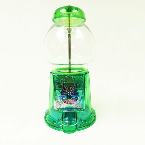 Green Gumball Machine Antique Style Gumball Bank and Dispenser with Free Spin (Gumball Machine Dispenser)
