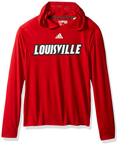 Basketball Tee S/s (NCAA Louisville Cardinals Adult Men Mark My Words Ultimate L/S Hooded Tee, Medium, Power Red)