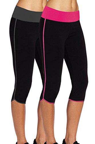 Womens Capri Tights Fitness Leggings