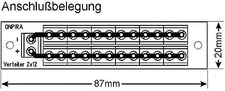 Stromverteiler Verteiler V 2x12 Mit Incl Montagematerial Bis 8a Belastbar Baumarkt