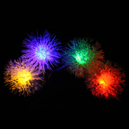 InnooTech 20 LED Solar Powered Fairy string Lights Outdoor Chuzzle Ball Ideal for Patio, Garden,Parties(Multi-color)