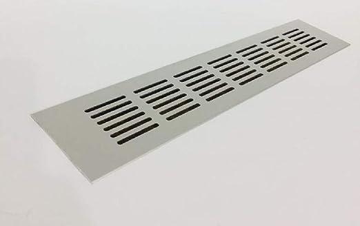 40x500mm Aluminium L/üftungsgitter Silber Stegblech L/üftung Alu-Gitter Gitter M/öbelgitter M/öbell/üftung