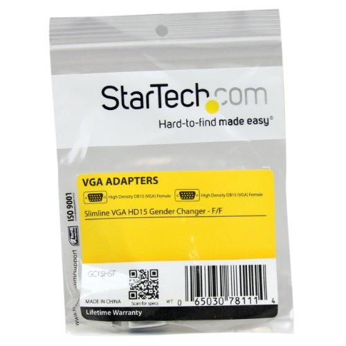 Slimline VGA HD15 Gender Changer - F/F - HD15 gender changer - VGA coupler - VGA gender changer by StarTech (Image #1)